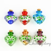 wholesale glass vials with cork jewelry for cremation ashes locket keepsake ashes jewelry