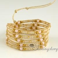 wholesale leather wrap bracelets fashion bracelets double wrap leather bracelet mocuba cords beaded bracelets