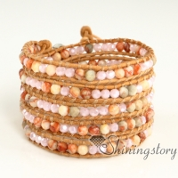 wholesale wrap bracelets leather jewelry bracelet wrap woven beaded bracelet handmade leather bracelets