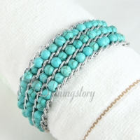 wrap alloy turquoise beads bracelets jewelry