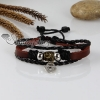 adjustable key genuine leather charm bracelets unisex design B