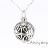 ball silver heart locket essential oils for aromatherapy family locket diffuser necklace supplies metal volcanic stone openwork necklaces design C