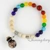 beaded charm bracelets essential oil bracelet diffuser 7 chakra balancing jewelry tree of life jewelry prayer beads for sale design F