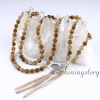 bohemian necklaces 108 mala bead necklace with tassel buddhist prayer beads mala beads wholesale meditation jewelry yoga spiritual jewelry design B