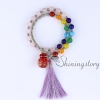 chakra bracelet with tassel aromatherapy bracelet 7 chakra healing jewelry tree of life locket bracelet chinese prayer beads design E