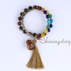 chakra bracelet with tassel aromatherapy bracelet 7 chakra healing jewelry tree of life locket bracelet chinese prayer beads design H