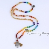 chakra necklace 108 mala bead necklace 7 chakra bead necklaces meditation spiritual yoga jewelry wholesale yoga necklaces design A
