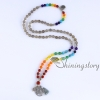 chakra necklace 108 mala bead necklace 7 chakra bead necklaces meditation spiritual yoga jewelry wholesale yoga necklaces design B