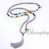 chakra necklace 108 prayer beads seven chakra crystal necklaces healing stone necklace spiritual jewelry design B