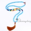 chakra necklace 108 prayer beads seven chakra crystal necklaces healing stone necklace spiritual jewelry design C
