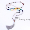 chakra necklace 108 prayer beads seven chakra crystal necklaces healing stone necklace spiritual jewelry design D