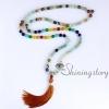 chakra necklace 108 prayer beads seven chakra crystal necklaces healing stone necklace spiritual jewelry design E