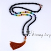 chakra necklace 108 prayer beads seven chakra crystal necklaces healing stone necklace spiritual jewelry design I