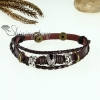 genuine leather charm wrap bracelets unisex design B