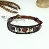 genuine leather charm wrap bracelets unisex design A