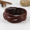 genuine leather woven buckle wristbands bracelets unisex design B