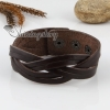 genuine leather woven buckle wristbands bracelets unisex design A