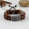 genuine leather wrap wristbands adjustable drawstring bracelets unisex design B