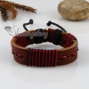genuine leather wrap wristbands adjustable drawstring bracelets unisex design C
