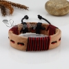 genuine leather wrap wristbands adjustable drawstring bracelets unisex design D