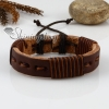 genuine leather wrap wristbands adjustable drawstring bracelets unisex design A