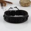 genuine leather wristbands adjustable cotton drawstring cross bracelets unisex design C