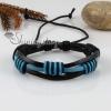 genuine leather wristbands adjustable drawstring cotton bracelets unisex design B