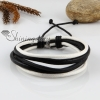 genuine leather wristbands adjustable drawstring multi layer bracelets unisex design B