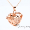 heart locket aromatherapy locket chain locket gold open heart locket necklace design D