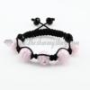 macrame lines lampwork beads bracelets jewellery armband pink
