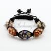 macrame swirled lampwork murano glass bracelets jewelry armband rainbow