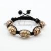 macrame swirled lampwork murano glass bracelets jewelry armband purple