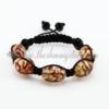 macrame swirled lampwork murano glass bracelets jewelry armband red