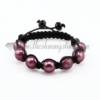 macrame venetian glass beads bracelets jewelry armband purple