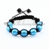 macrame venetian glass beads bracelets jewelry armband light blue