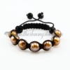 macrame venetian glass beads bracelets jewelry armband brown