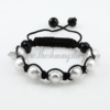 macrame venetian glass beads bracelets jewelry armband white