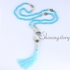 mala beads wholesale semi precious stone 108 mala bead necklace with tassel healing jewelry hamsa hand necklace