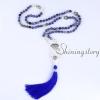 mala beads wholesale semi precious stone 108 mala bead necklace with tassel healing jewelry hamsa hand necklace design B