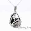 teardrop swan essential oil jewelry wholesale essential oil diffusers white gold heart locket diffuser locket necklace metal volcanic stone design A