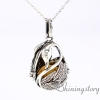 teardrop swan essential oil jewelry wholesale essential oil diffusers white gold heart locket diffuser locket necklace metal volcanic stone design D