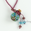 vintage perfume bottle pendant necklace necklace vials for ashes wholesale supplier italian murano glass pendants with flower inside design B