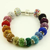 Rhinestone big hole beads