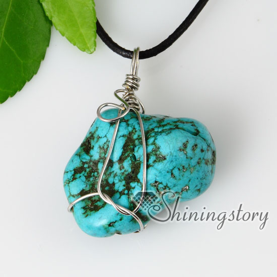 2013 new style semi precious stone turquoise stone pendants leather 2013 new style semi precious stone turquoise stone pendants leather necklaces design a mozeypictures Images