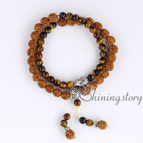 54 Mala Bracelet Buddha Beads Malas For Hindu Prayer Tibetan Meditation Jewelry