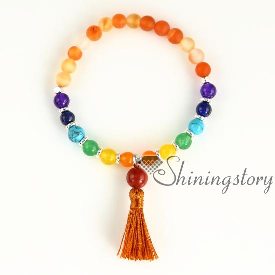 Relatively 7 chakra healing jewelry chakra bracelet spiritual jewelry yoga  UD32