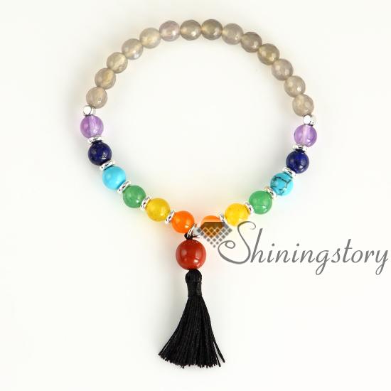 Preferred 7 chakra healing jewelry chakra bracelet spiritual jewelry yoga  PT06