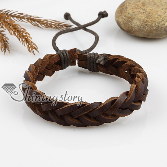 Adjule Woven Leather Bracelets For Men And Women