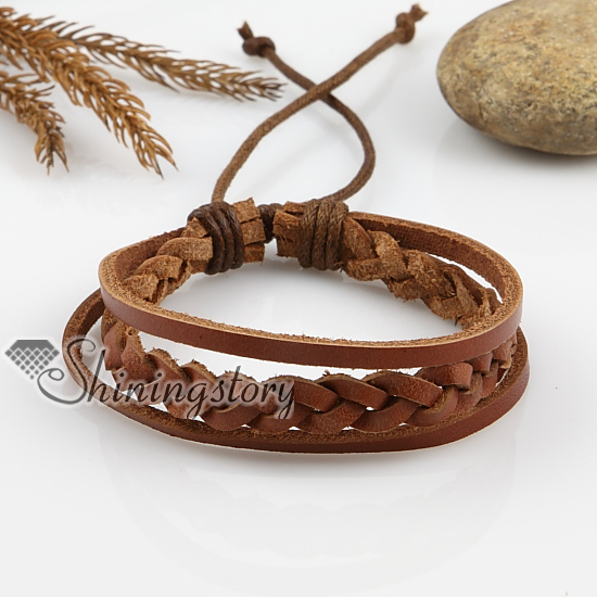 women woven brown jewelry adjustable and wholesale jewellery for men bracelets leather