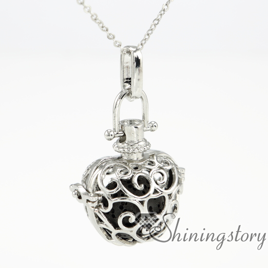 Apple metal volcanic stone openwork aromatherapy necklace diffuser apple metal volcanic stone openwork aromatherapy necklace diffuser pendants wholesale perfume necklace essential oil diffuser jewelry aloadofball Images